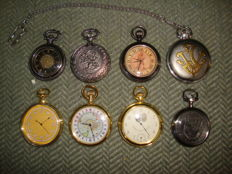 8 Vintage Pocket Watches