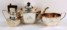 Antique Silver Plate Three Piece Tea Set, Stephenson & Son, Manchester / Sheffield, Circa.1910