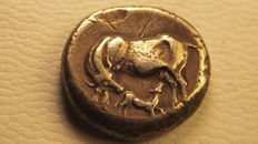 Coin from Ancient Greece: ILLYRIA - DYRRACHIUM - Silver stater - 400-350 BC.