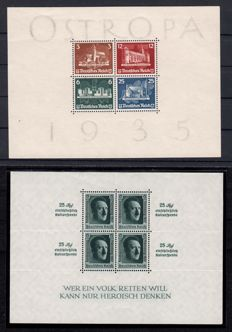 German Reich 1930/1937 - 9 blocks, Michel No. 4 to 11