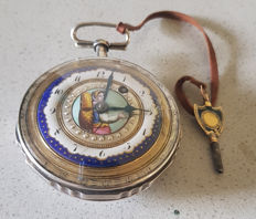 26. Berthoud - jewellery verge watch - painted enamel - circa 1800 France