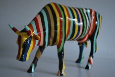 CowParade - Cary Smith - type Cow Striped - Large-Retired