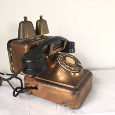 Beautiful old copper Dutch telephone, unique model!