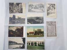 lot of 240 X Germany post card and real photo collection used and unused, some military ww1 ww2 era  1890`s to 1940`s
