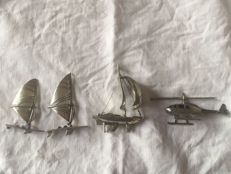 Lot of 4 silver miniatures