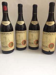 3x 1986 & 1x 1987 Barbaresco Produttori del Barbaresco - 4 bottles in total