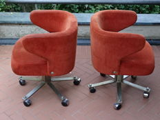 Designed by Gianni Moscatelli for Formanova 2 armchairs, model: Poney