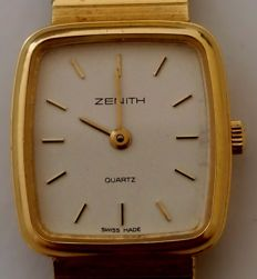Zenith 18 kt yellow gold women's watch. Total weight: 42.38 g. Gold weight: 38.5 g.