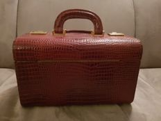Beauty Case - Croco Leather