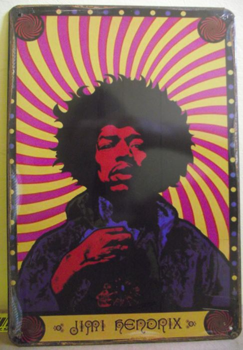 Fantastic Jimi Hendrix Vintage Retro Metal Sign Plaque Home Decor Studio Room Pub Workshop