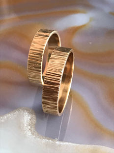 Creative wedding rings gold 14 kt - ring size 60 / ring size 67 EU