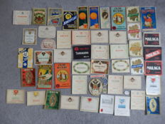 Nice collection of 49 very old, original beverage-wine labels including: Bordeaux, Margaux and Muscat