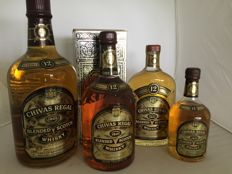 4 bottles - Chivas 12 different sizes from 1.5 liters to 37.5cl