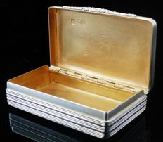 Antique Silver Snuff Box, London 1832, Charles Rawlings & William Summers
