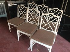 Set Of 6 Benitez Faux Bamboo chairs, Spain, late 20th century
