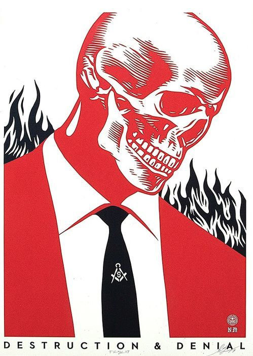 Shepard Fairey (OBEY) - Destruction & Denial