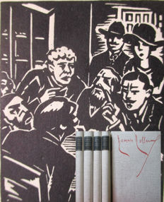 Romain Rolland: Johann Christof 5 large format volumes with 606 woodcuts by Masereel (1889 - 1972) German First Edition 1959