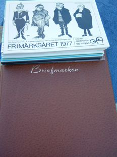 Sweden, Norway, Greenland, Denmark and Finland - batch in stock book and year packs/ year collections