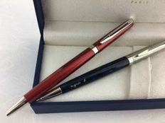 2 Waterman Hemisphere ballpoint pens in Mint Condition.