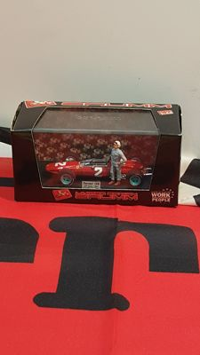 Ferrari 158 John Surtees model car, limited edition, and Ferrari flag