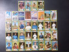 Panini - München 72 Olimpiadi - stickers whit complete Italian team and league titles and coats - 36 stickers