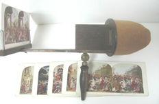 Antique stereoscope for relief/3D photographs - 19th century - Manufactured in the USA - Ref. 380