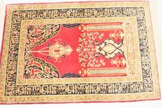 Stunning Hereke - mid 20th century - 105 x 64 cm, 100% natural silk, with certificate of authenticity