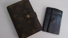 Duo Louis Vuitton.- Mogram Canvas Bifold Wall + key ring black leather ***No minimum price***