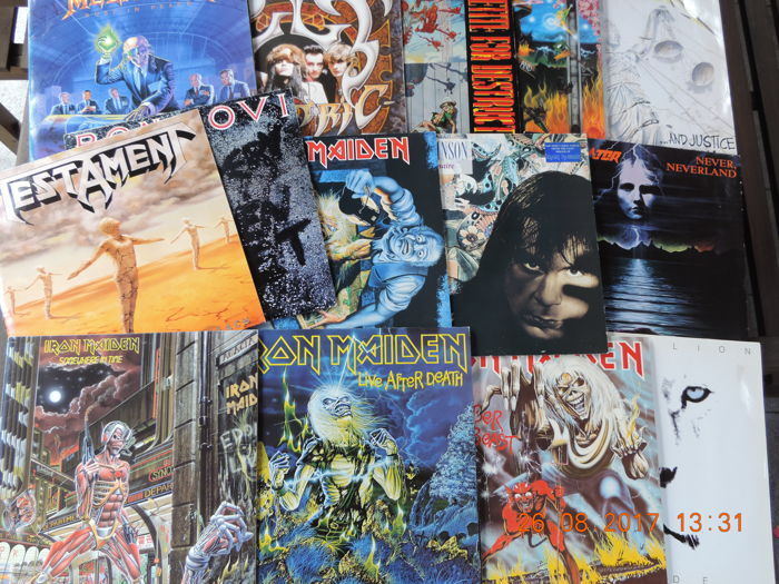 Lot of 15 heavy metal albums