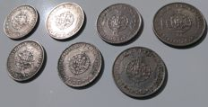 Portuguese Timor/Republic -- Lot of 7 coins -- 10 Escudos -- 1970