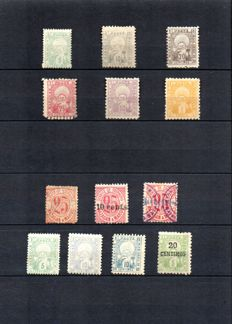 Former French Colonies 1892-1899 - Morocco, local postage 'MAZAGAN to MARRAKESH, TANGIER to FEZ'