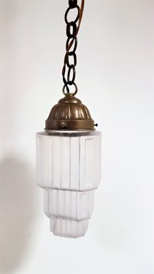 Art Deco Pendant Lamp - First Half 20th Century, Belgium