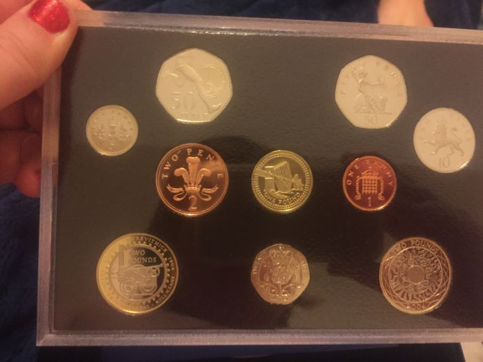 United Kingdom - Yearset 2004 with 1 Penny up to and including 2 Pounds (10 coins)