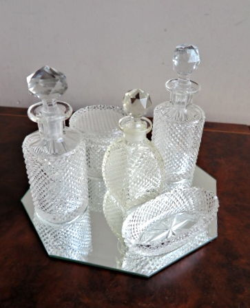 Cut crystal dressing table set - 5-piece - Catawiki