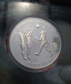 South Korea - 10,000 Won 1987 'Olympic Games of Seoul' - In .999 silver (1 oz)