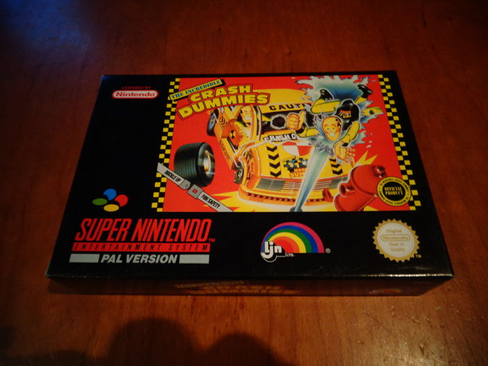 "Super Nintendo ""The Incredible Crash Dummies"" Fully complete In mint condition"