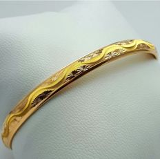 6.00g 22 Ct Fine Gold Ladie's Bullion Bangle , **** NO RESERVE PRICE ***