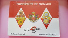 Monaco - Yearset Eurocoins 2001 in blister