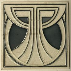 Art Nouveau tile type Nuster with geometric pattern