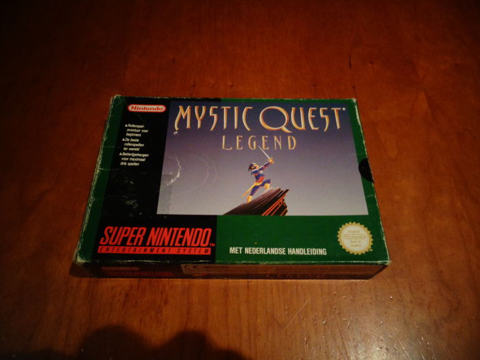 "Super Nintendo ""Mystic Quest Legend"" HOL Version, Fully complete including the rare Map and Black seal"