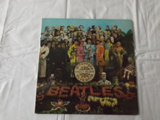 Ultra Rare 1967 First Pressing Beatles's Sgt.Pepper Wide Spine Cover And Omitted The Song On Label A Day In A Life