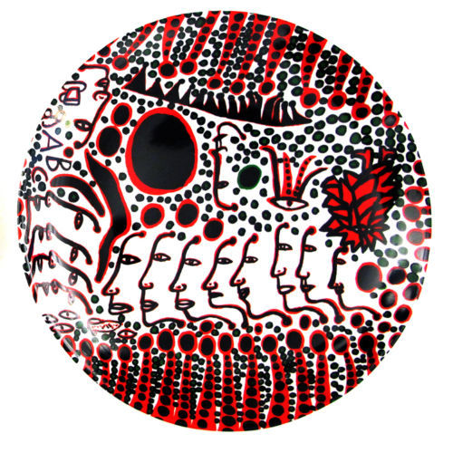 Yayoi Kusama - Women Wait for Love, Men Always Walk Away Plate