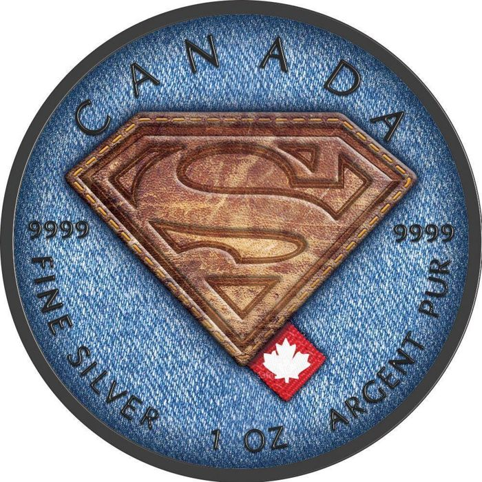 Canada - 5 Dollar 2016 Superman Jeans with certificate - 1 Oz - Silver