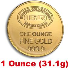 1 Ounce ( 31.1 g ) Sealed Fine 24 Ct Bullion Gold  Coin ***NO RESERVE PRICE ***