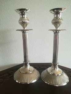 2 Silver Plated Candle stands