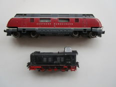 Trix Express H0 - 764/262 - 2 diesel locomotives No. V200035 and V36257