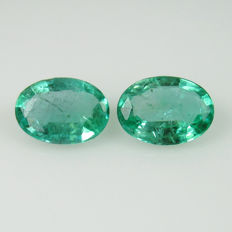 Emerald Pair - 1.27 Ct -  No Reserve Price