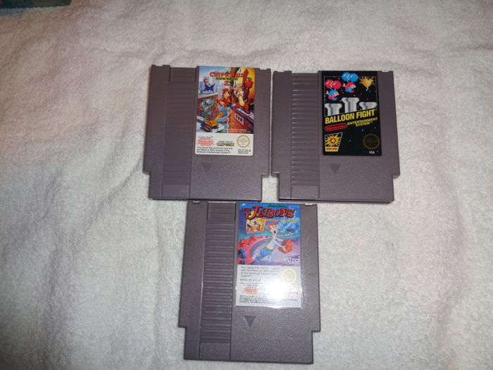 lot of 3 Rare Nes Games like:  The Jetsons + Chippendales 2 + Balloon Fight