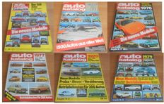 Six yearbooks Auto Katalog 1974-1975-1976-1977-1978-1979 published by Auto Motor und Sport