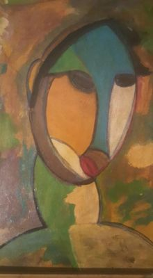 Anonymous figurative abstract - School of Paris - Expressionism fauvism, école Francaise